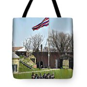 Colonial Soldiers Tote Bag