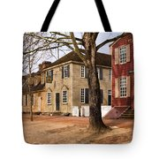 Colonial Street Scene Tote Bag