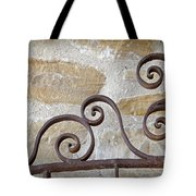 Colonial Wrought Iron Gate Detail Tote Bag