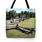 Colonial Zig Zag Fence At Booker T Washingtons Home Tote Bag