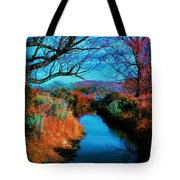 Color Along The River Tote Bag
