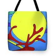 Color Animal Moon Street Art Tote Bag