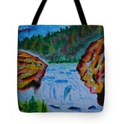 Color At The Firehole Tote Bag