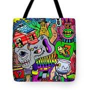 Color Bash Acid Tweeter Tote Bag