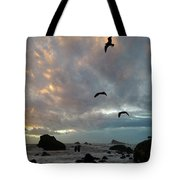 Color Burst Sunset Tote Bag