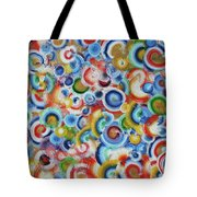 Color Circles 201810 Tote Bag