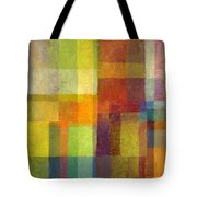 Color Collage With Green And Red 2.0 Tote Bag by Michelle Calkins