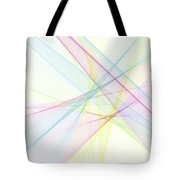 Color Computer Graphic Line Pattern Tote Bag