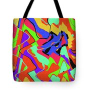 Color Drawing Abstract #3 Tote Bag