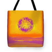 Color Field Sunset 1 Tote Bag