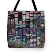 Color Grid - Gold Line Tote Bag