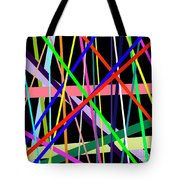 Color Lines Variety Background Tote Bag