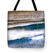 Color Movement-blue And Beige Tote Bag