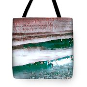 Color Movement-turquoise And Red Tote Bag