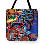 Color Of Bikes Tote Bag