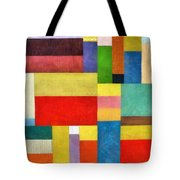 Color Panel Abstract With White Buttons Tote Bag