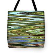 Color River Abstract Tote Bag