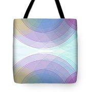 Color Semi Circle Background Horizontal Tote Bag