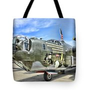 Color Side Wwii B-24j Tote Bag