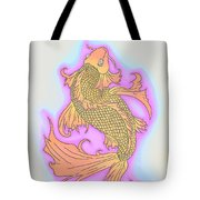 Color Sketch Koi Fish Tote Bag