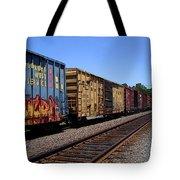 Color Train Tote Bag
