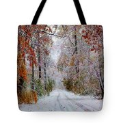 Color Tunnel In The Sourlands Tote Bag
