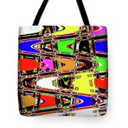 Color Wave Abstract Tote Bag
