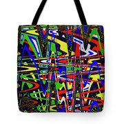 Color Works Abstract Tote Bag
