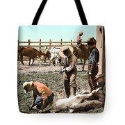 Colorado: Branding Calves Tote Bag