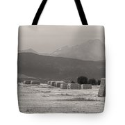 Colorado Farming Panorama View In Black And White Pt 1 Tote Bag