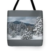 Colorado Foothills Winter Panorama Tote Bag