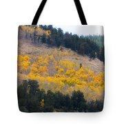Colorado Mountain Aspen Autumn View Tote Bag