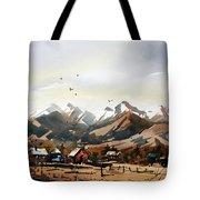 Colorado Mountain Ranch Tote Bag