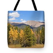 Colorado Rockies National Park Fall Foliage Panorama Tote Bag