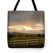 Colorado Rocky Mountain Country Sunset Tote Bag