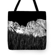 Colorado Rocky Mountains Indian Peaks Fine Art Bw Print Tote Bag