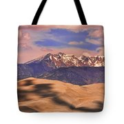 Colorado's Great Sand Dunes Shadow Of The Clouds Tote Bag