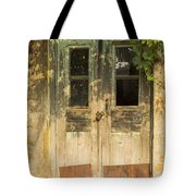 Colorful Zeytinli Village Door Tote Bag