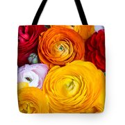 Colored Buttercup Flowers Tote Bag