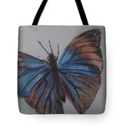 Colored Butterfly Tote Bag