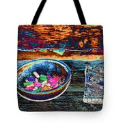 Colored Chalk Tote Bag