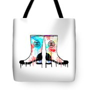 Colored Chanel Boots Tote Bag