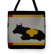 Colored Cows Tote Bag