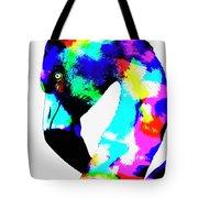Colored Flamingo Tote Bag
