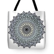 Colored Flower Zentangle Tote Bag