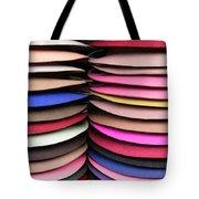 Colored Hat Brims Tote Bag
