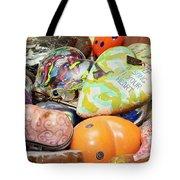 Colored Hearts Tote Bag