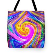 Colored Lines And Curls Tote Bag