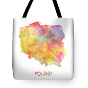 Colored Map Of Poland Tote Bag