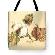 Colored Pencil Cotton Plant Tote Bag
